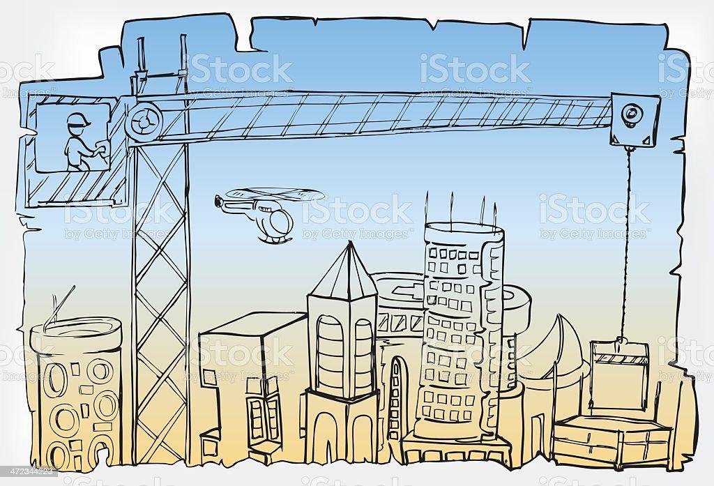 City development royalty-free stock vector art