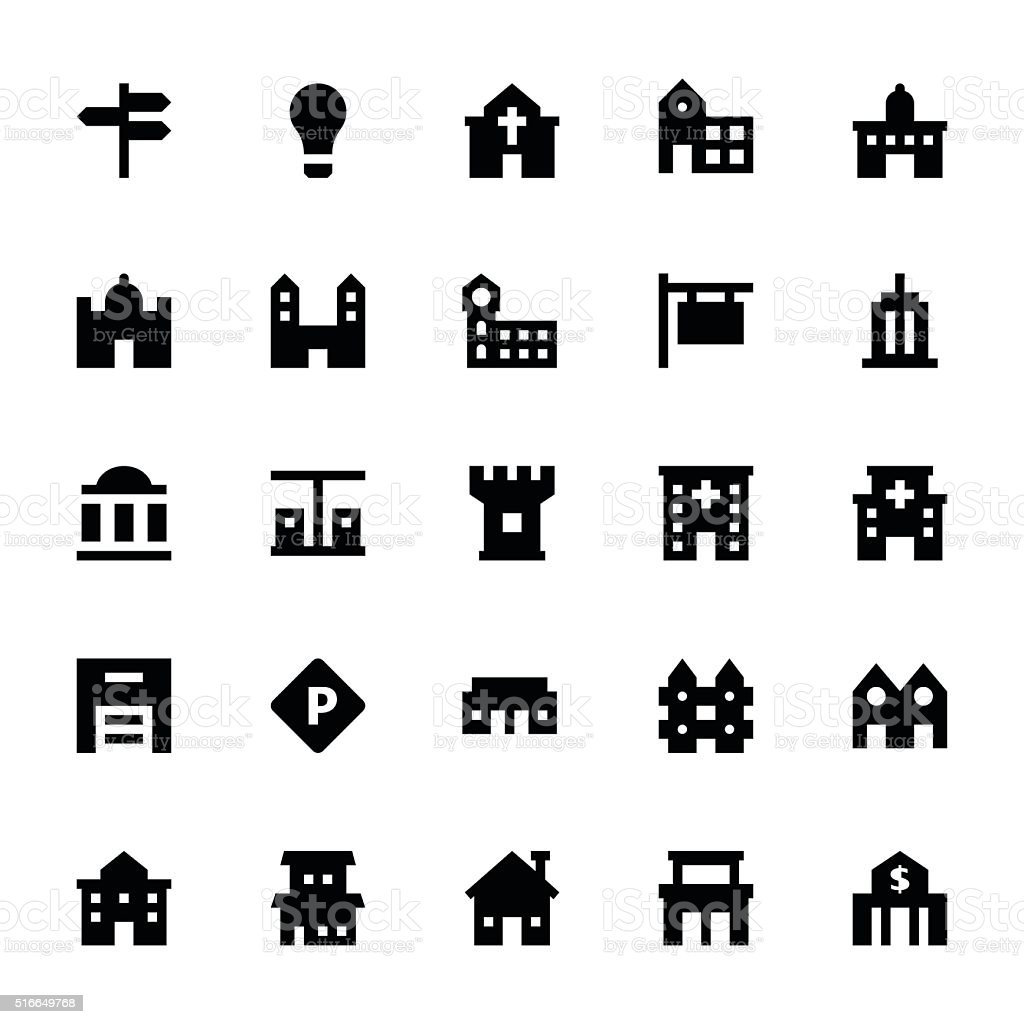City Elements Vector Icons 2 vector art illustration