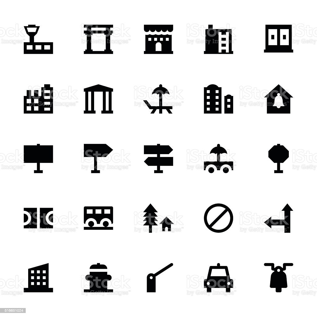 City Elements Vector Icons 8 vector art illustration