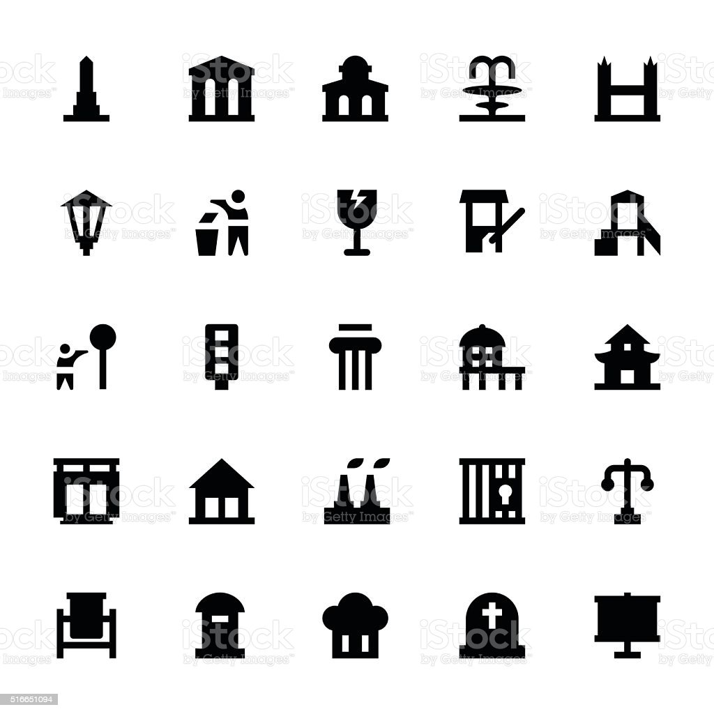 City Elements Vector Icons 9 vector art illustration