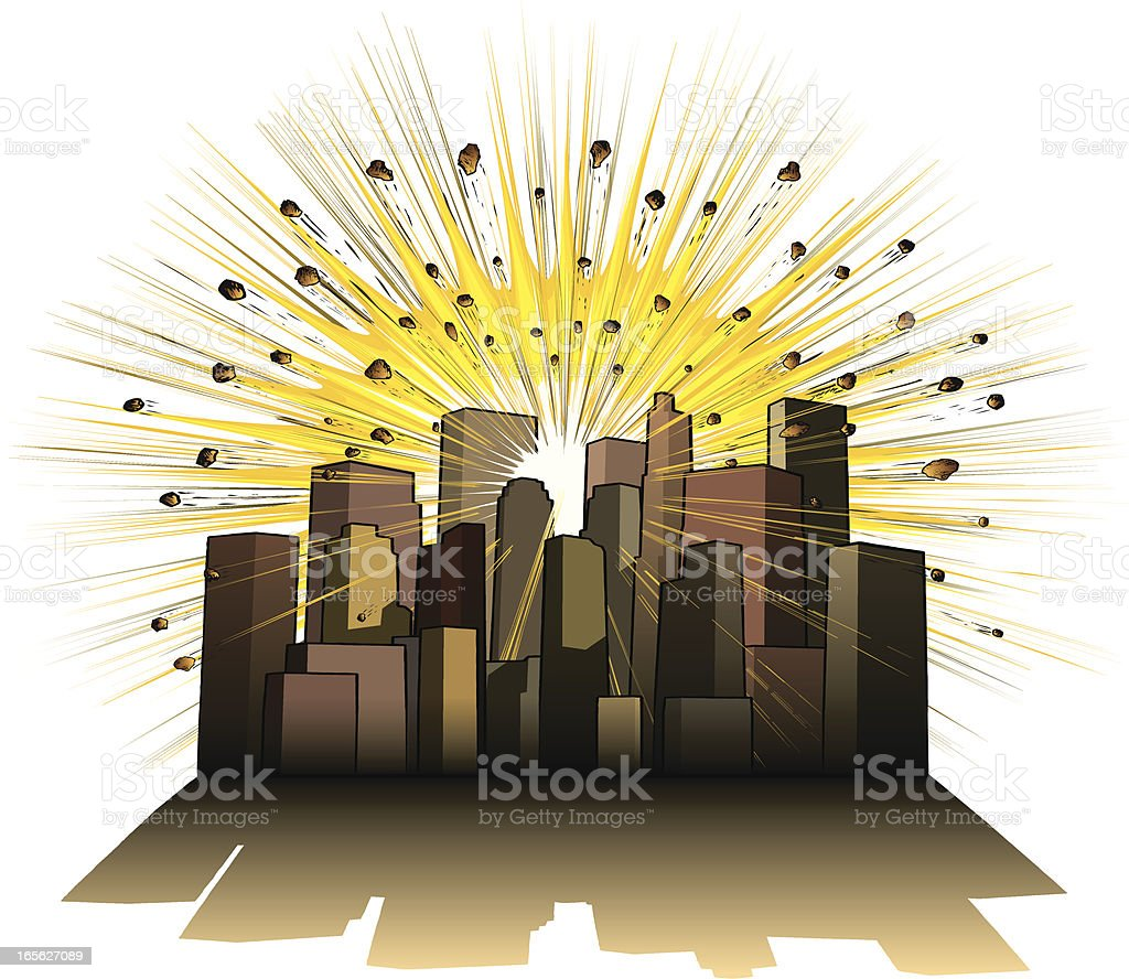 City explosion royalty-free stock vector art