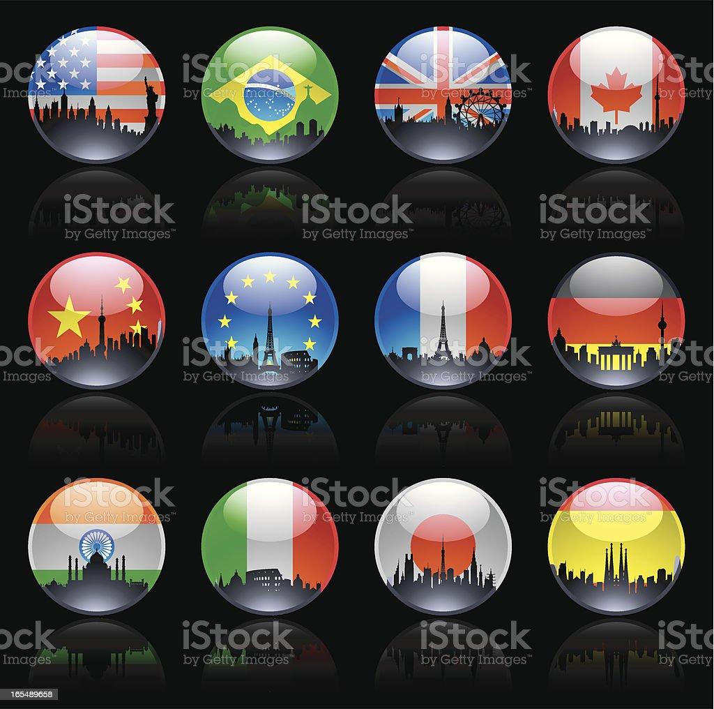 City Flag Marbles royalty-free stock vector art