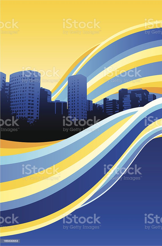 City Flow royalty-free stock vector art