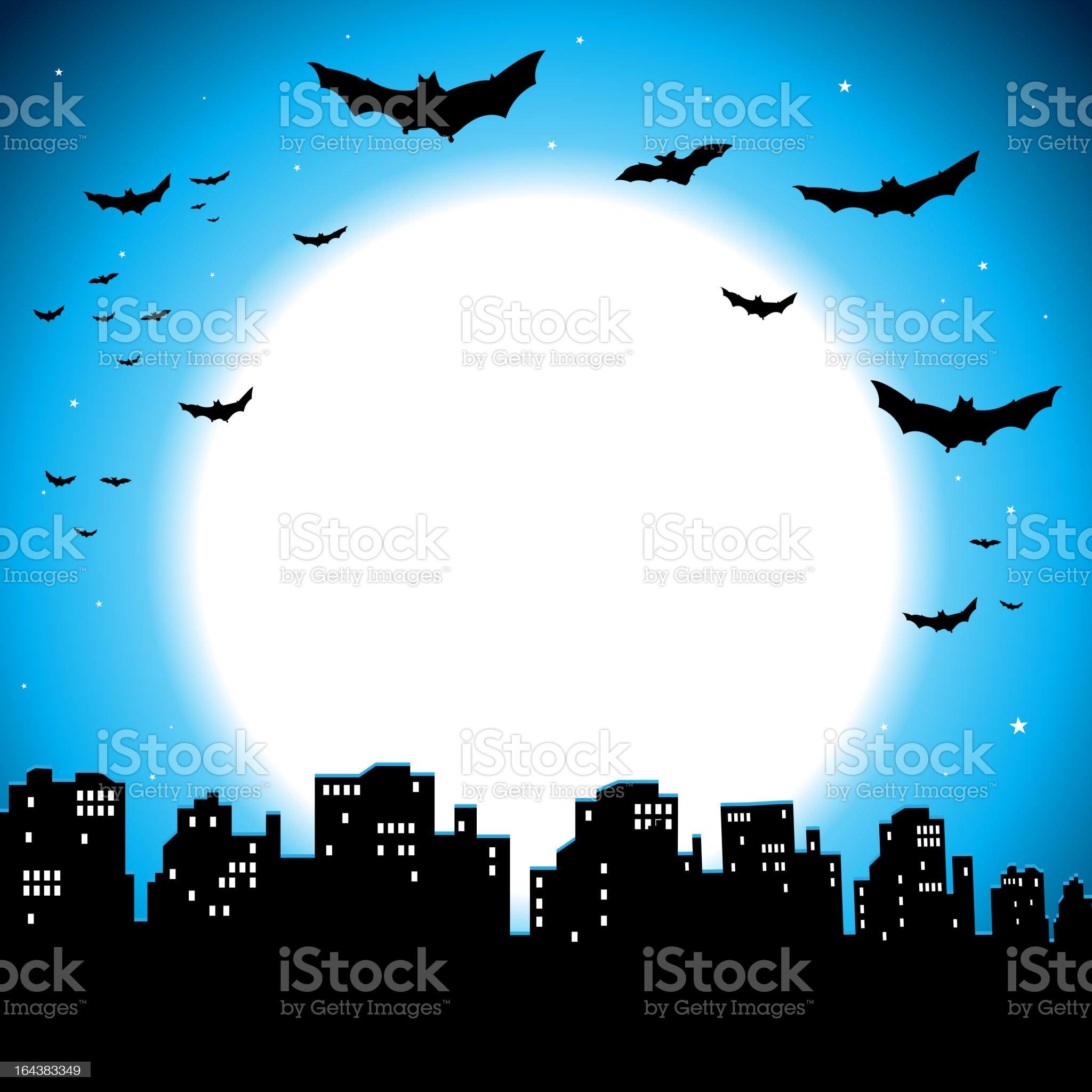 City Halloween Background royalty-free stock vector art