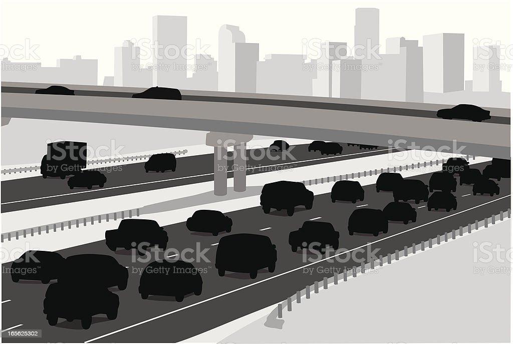City Highway royalty-free stock vector art