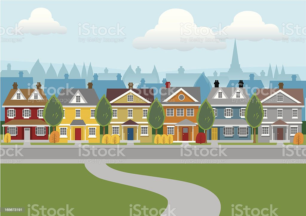 City Houses royalty-free stock vector art