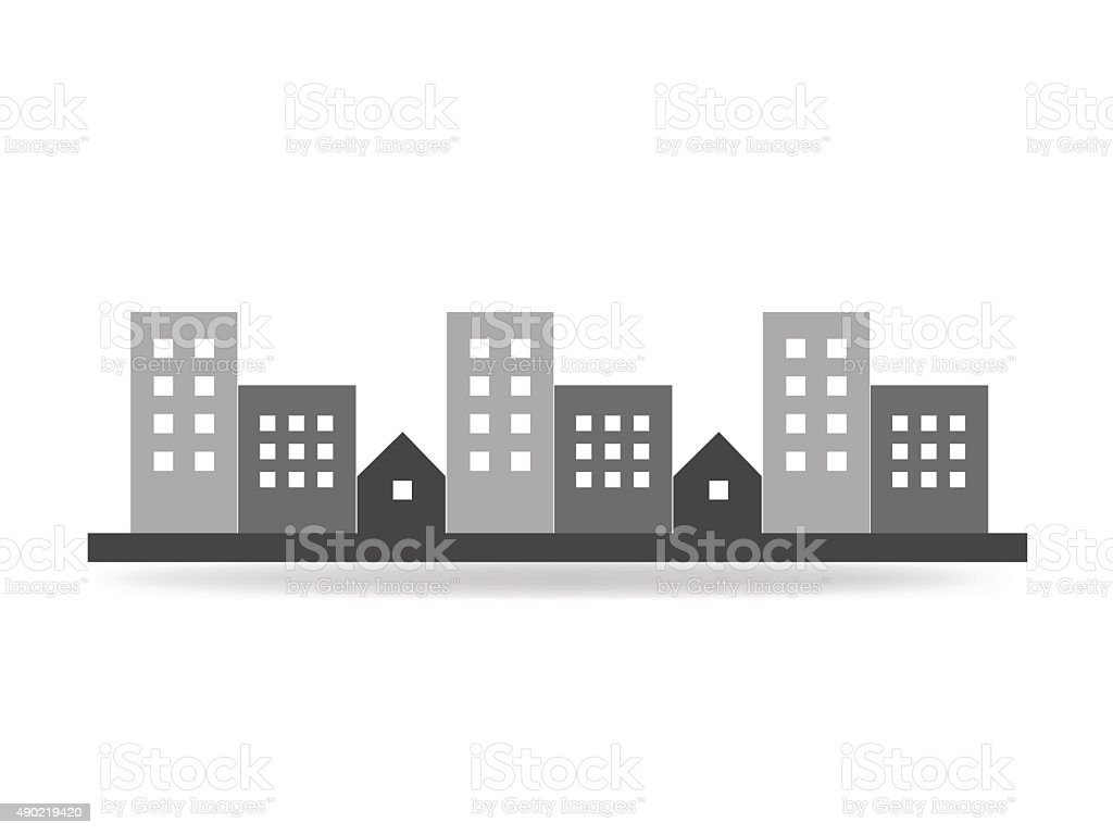 City icon vector vector art illustration