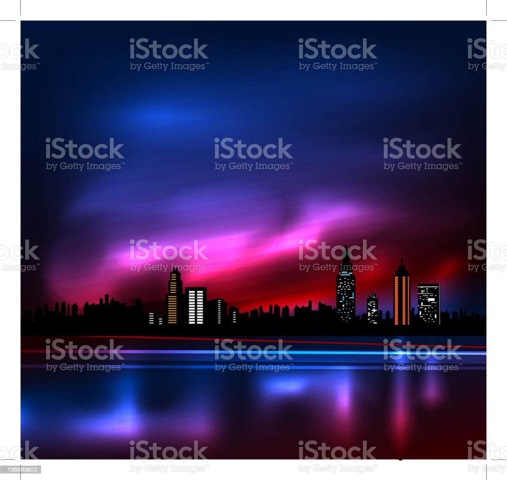 city in night royalty-free stock photo