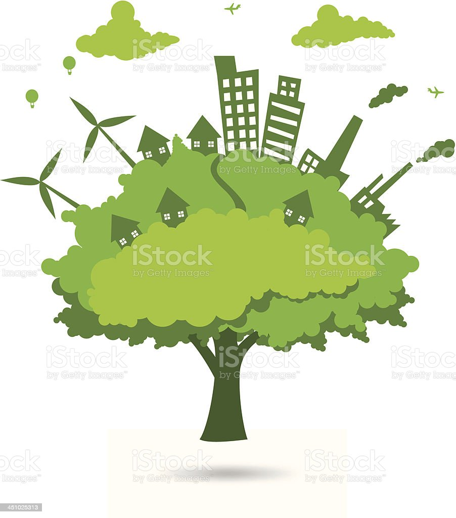 city in the tree royalty-free stock vector art