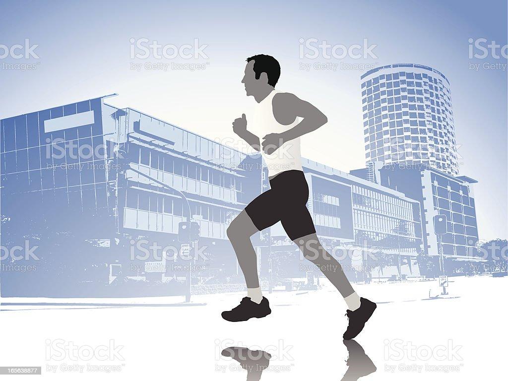 City jogger royalty-free stock vector art
