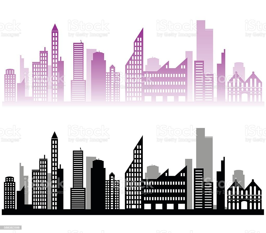 city landscape background vector art illustration