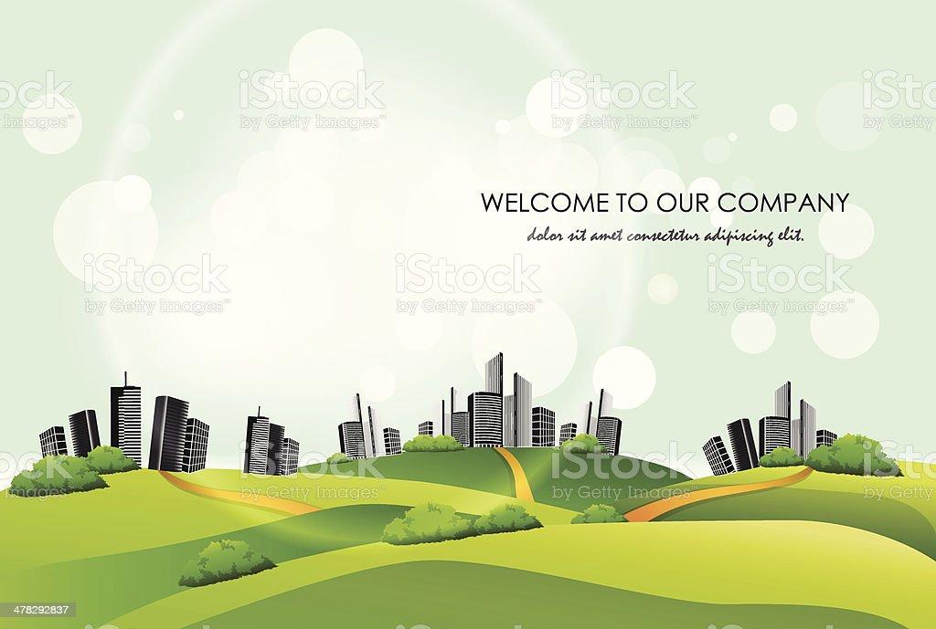 City landscape background. Vector illustration. royalty-free stock vector art