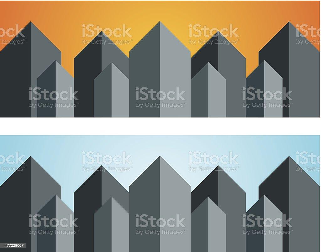 City landscape cityscape building real estate logo vector illustration background royalty-free stock vector art