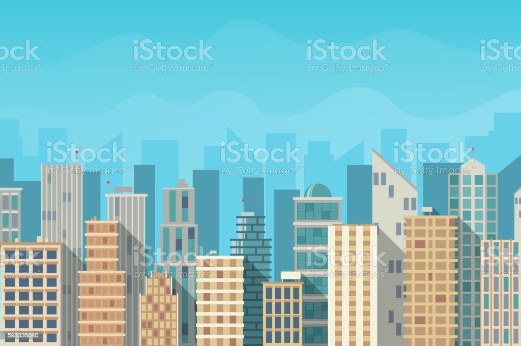City landscape vector illustration royalty-free stock vector art