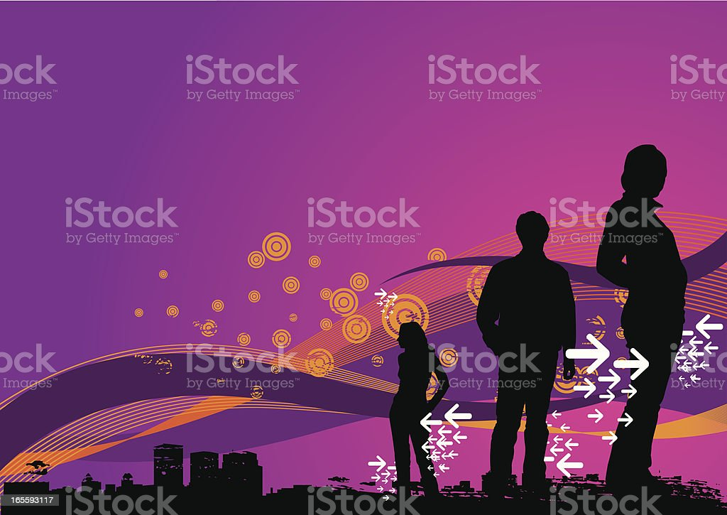 City life royalty-free stock vector art
