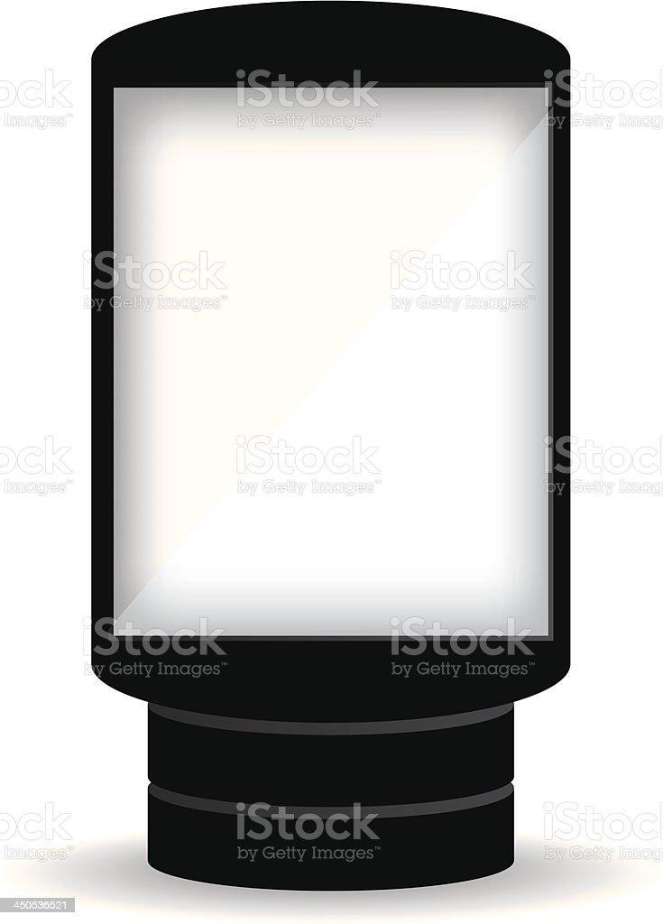 City light billboard on white background vector art illustration