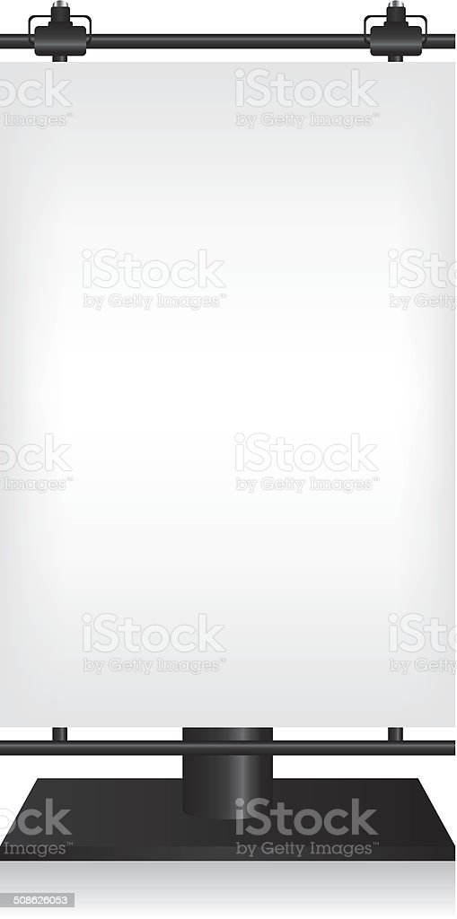 City light black billboard on white background vector art illustration