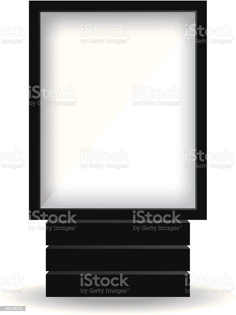 City light black billboard vector art illustration