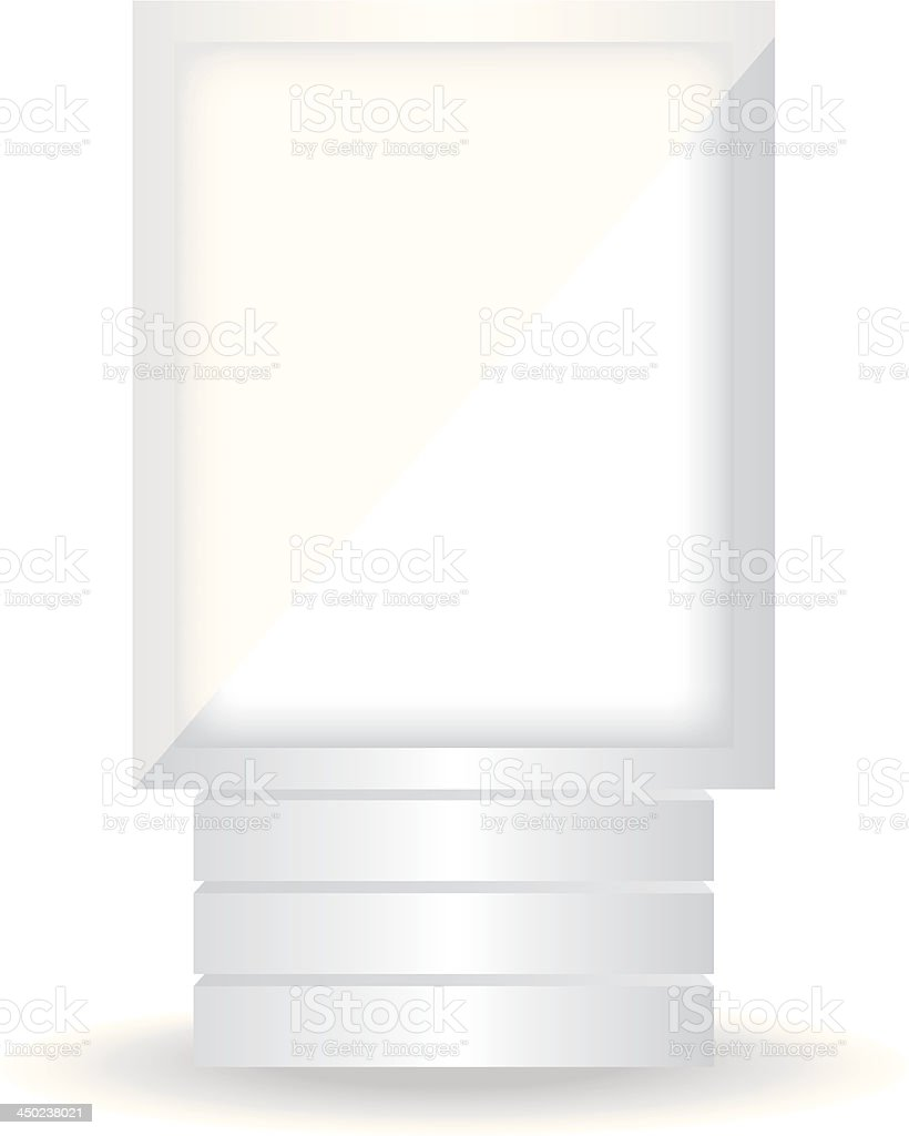 City light white billboard vector art illustration