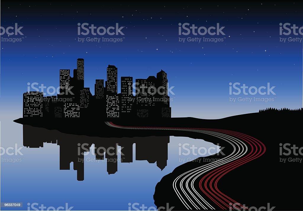 City Lights ~ Vector royalty-free stock vector art