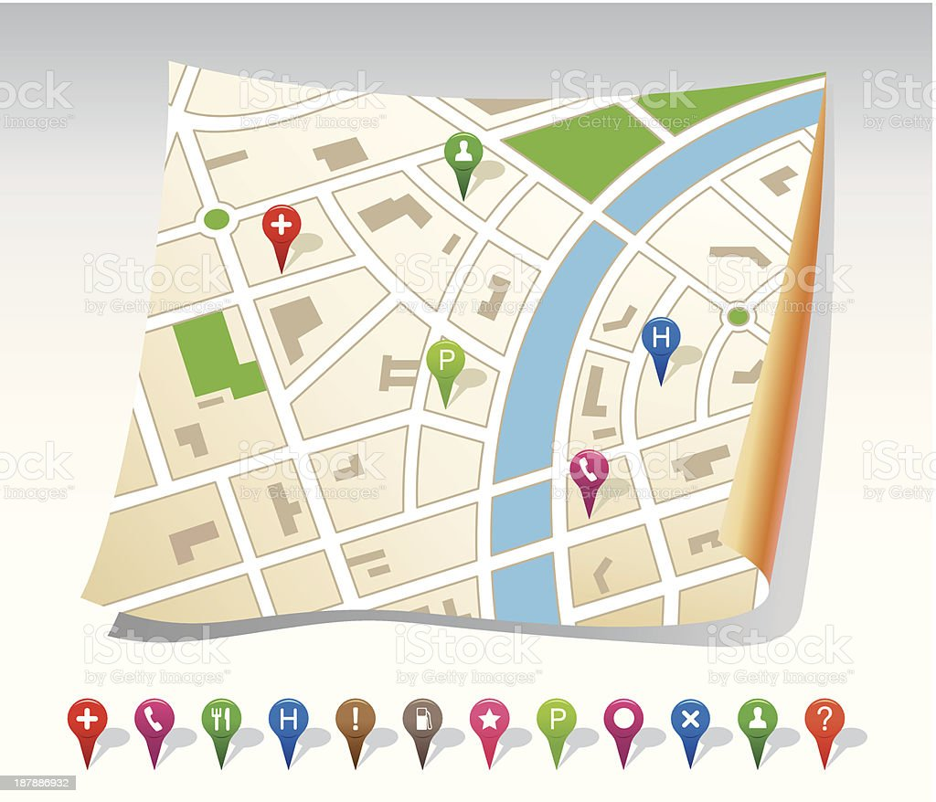 City map royalty-free stock vector art