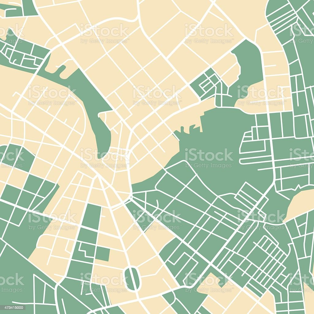 Карта города Сток Вектор Стоковая фотография