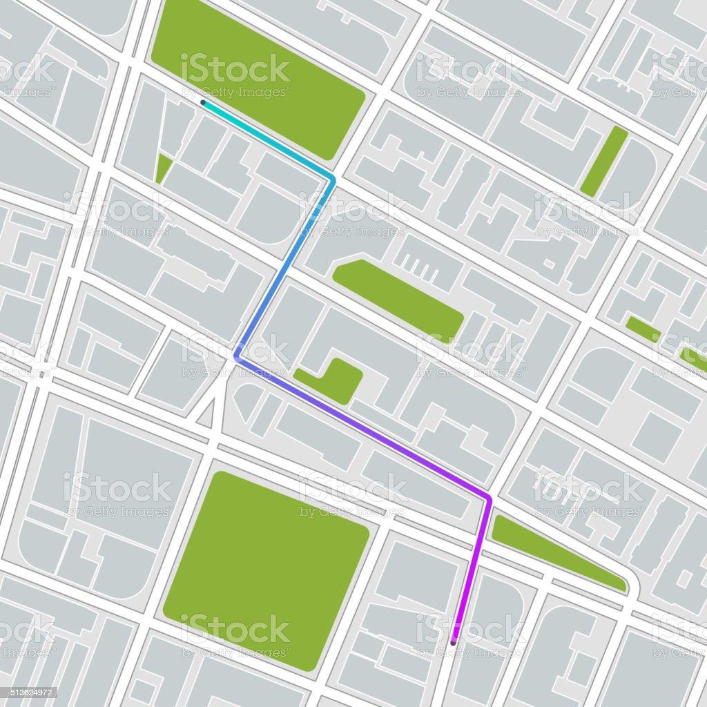 city map. vector illustration vector art illustration