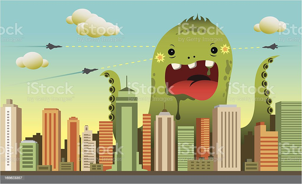 City Monster royalty-free stock vector art