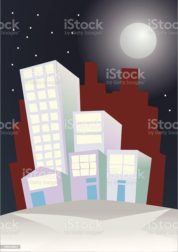 City Moon royalty-free stock vector art