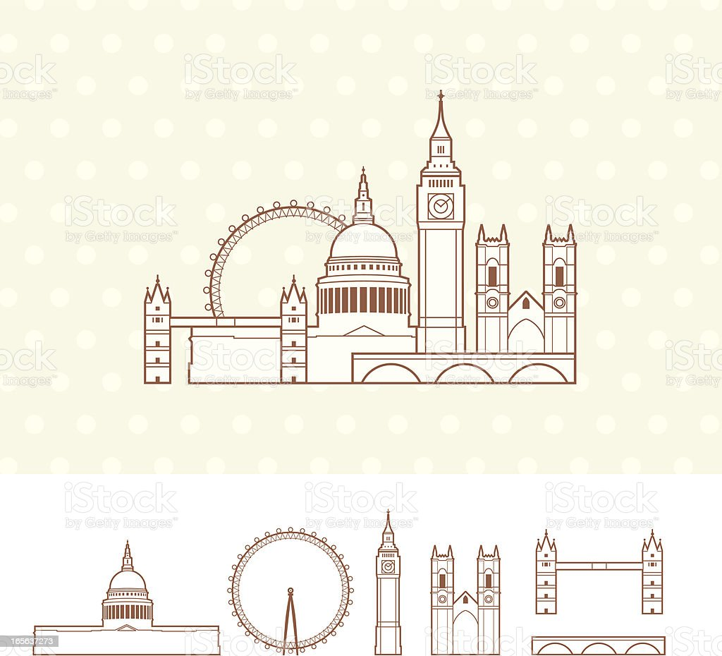 City of London royalty-free stock vector art