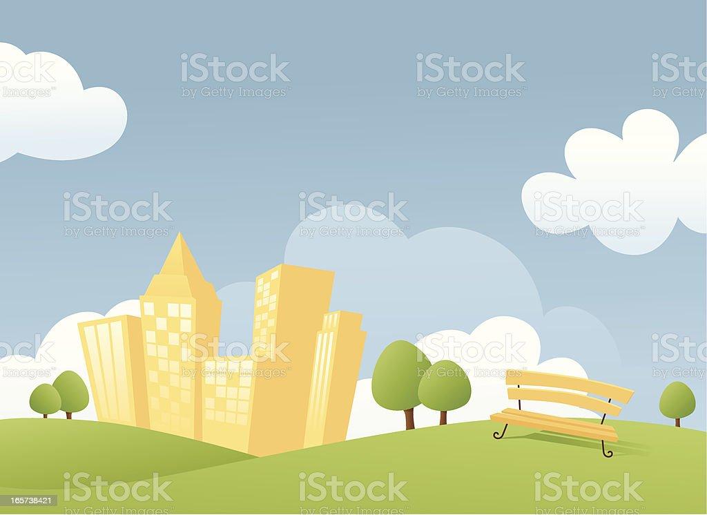 City Park royalty-free stock vector art