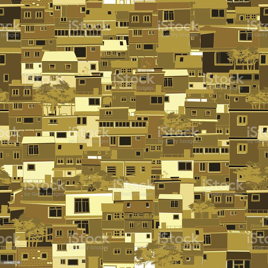 City pattern vector art illustration