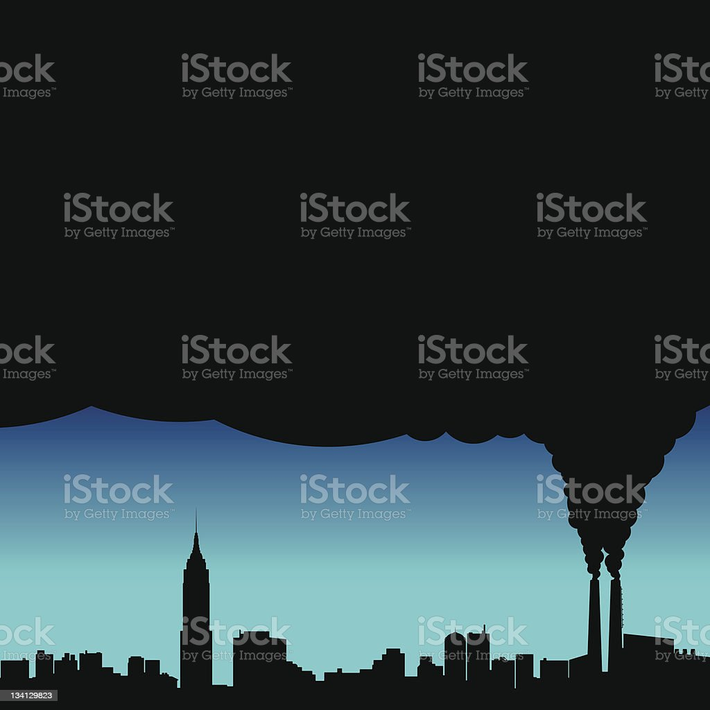 City Pollution Vector royalty-free stock vector art
