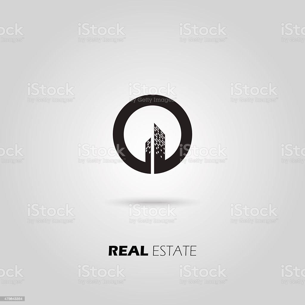 City Real Estate icon. vector art illustration
