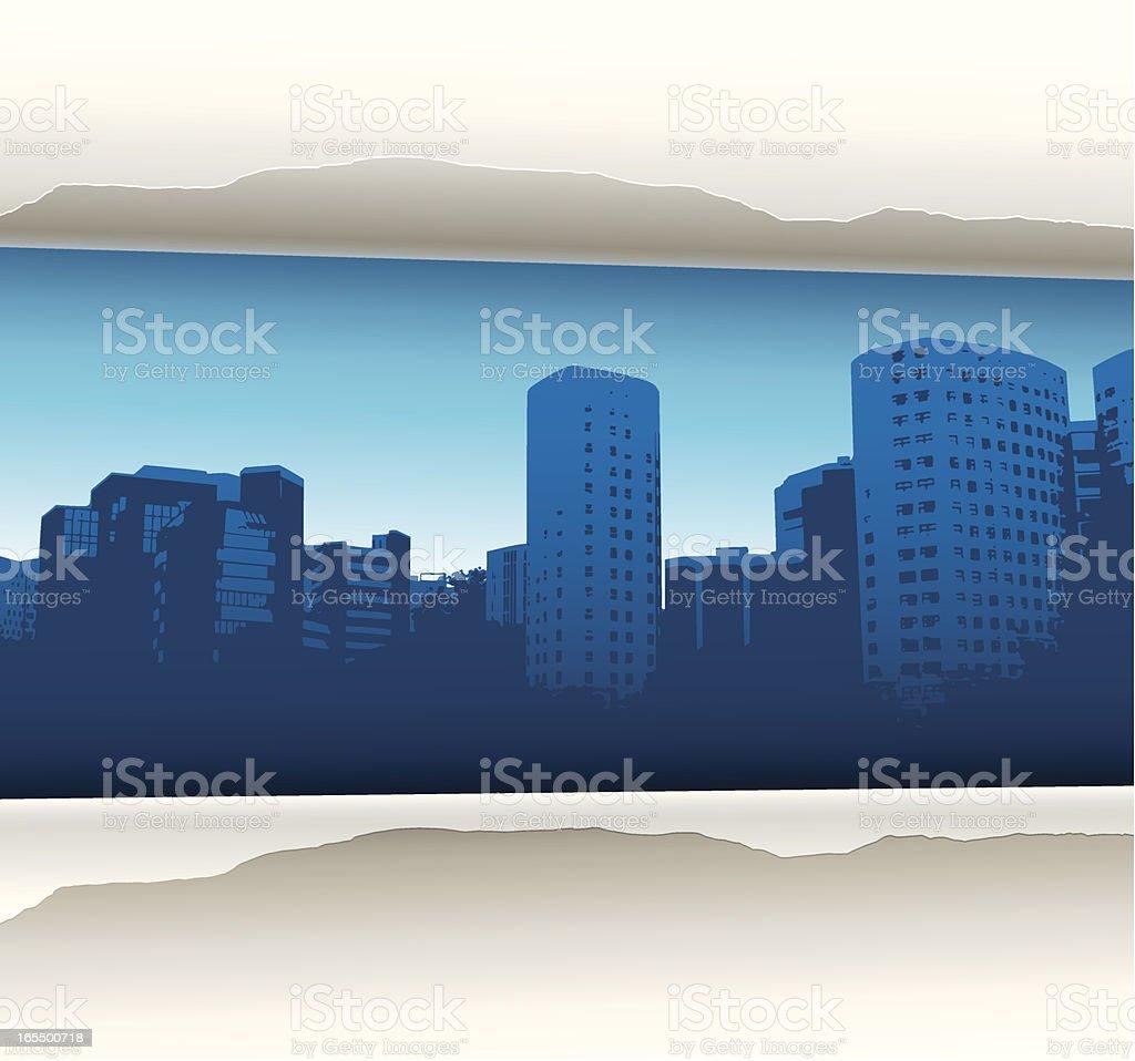 City revealed royalty-free stock vector art