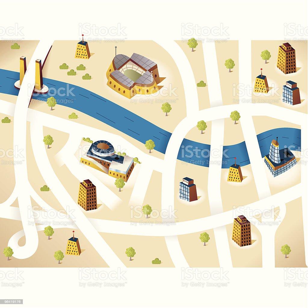City Road map royalty-free stock vector art