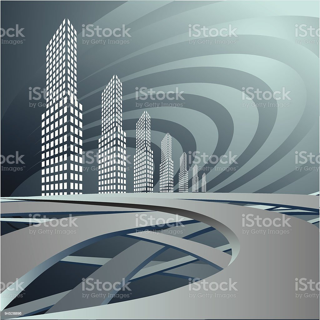 City, roads. royalty-free stock vector art