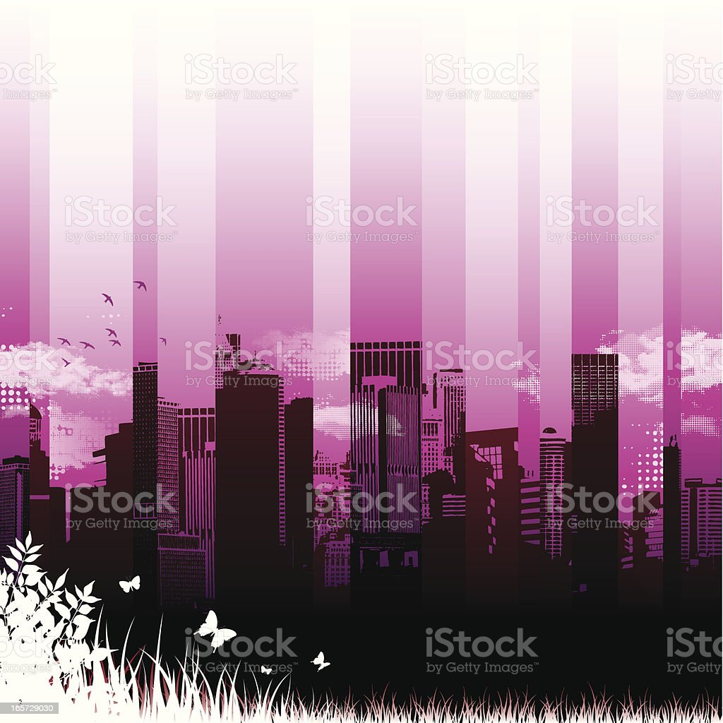 City romance royalty-free stock vector art