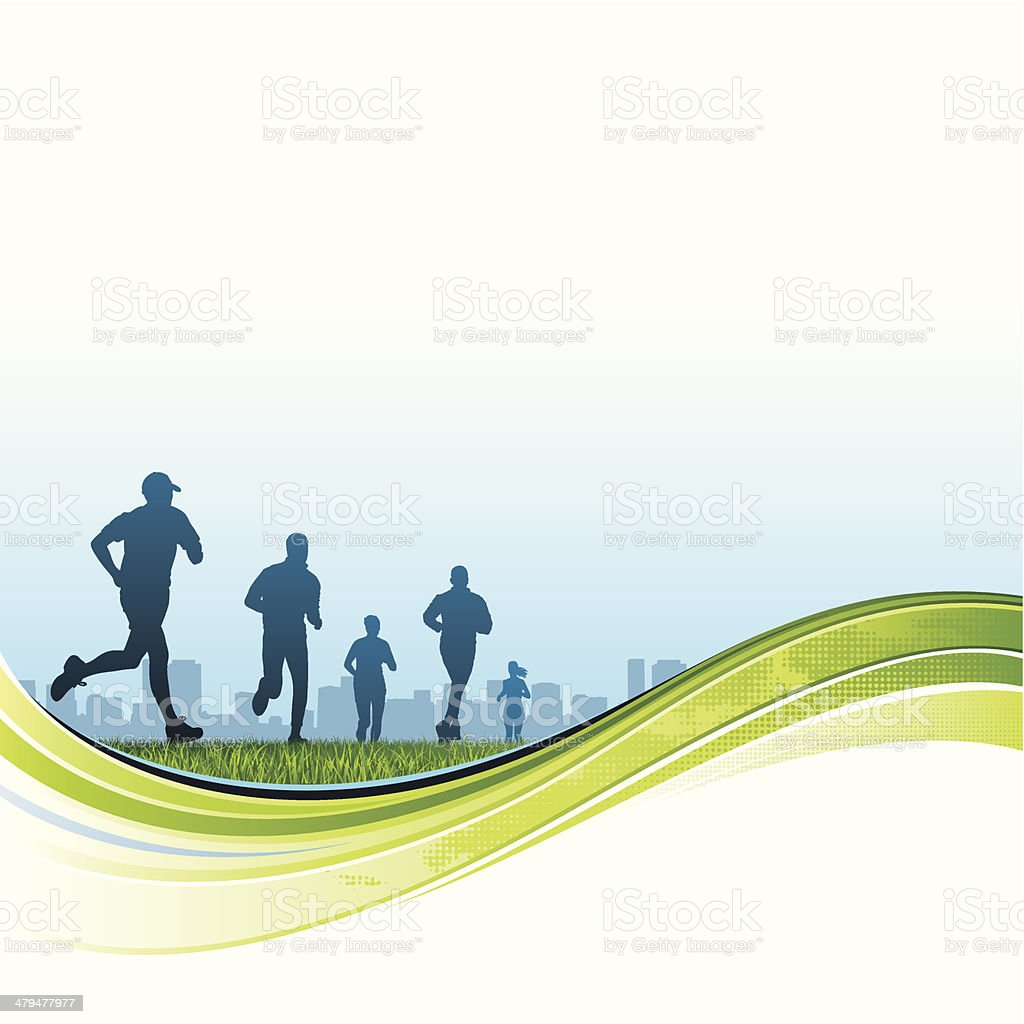 City runners royalty-free stock vector art