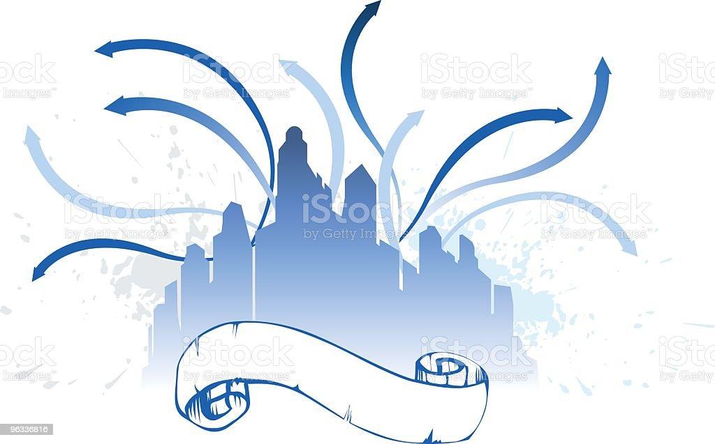 City Scroll ~ Vector royalty-free stock vector art