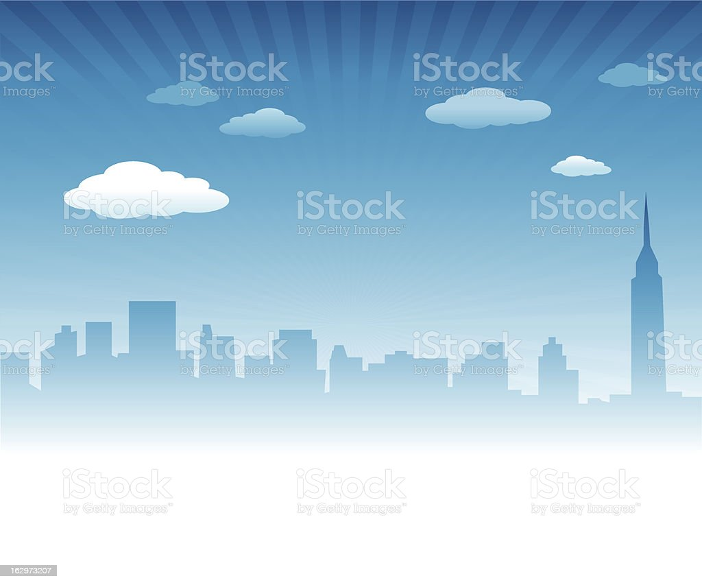 City Skyline Background royalty-free stock vector art