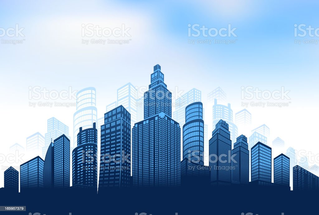 City skyline panoramic Background royalty-free stock vector art