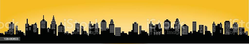 City Skyline vector art illustration