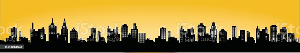 City Skyline vector art illustration