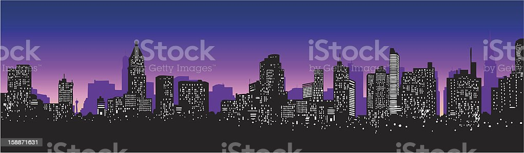 city skyline royalty-free stock vector art
