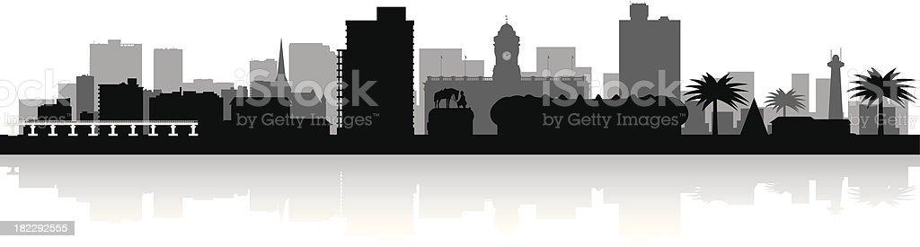 city skyline vector silhouette vector art illustration