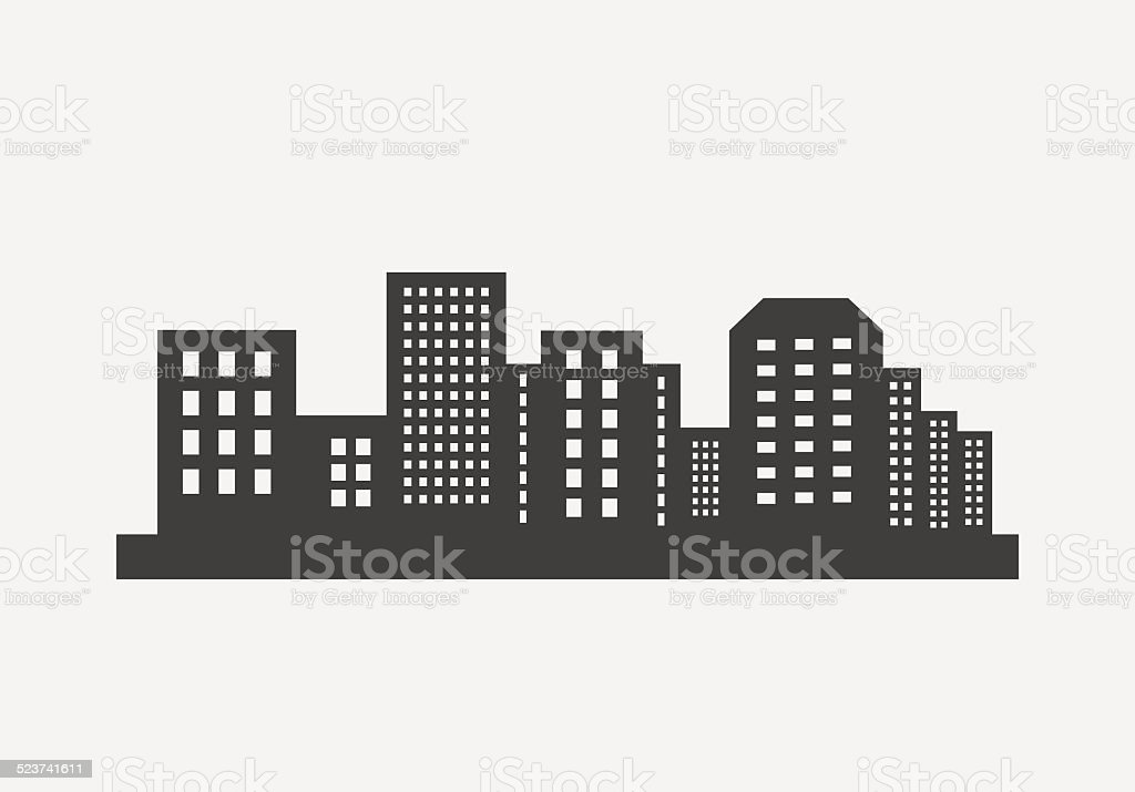 City skyline vector vector art illustration
