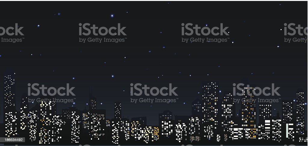 City skylines at night .urban scene royalty-free stock vector art