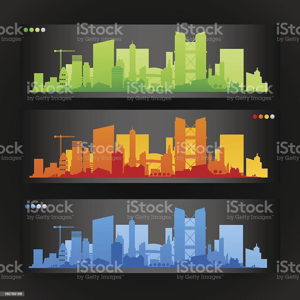 City skylines banners royalty-free stock vector art