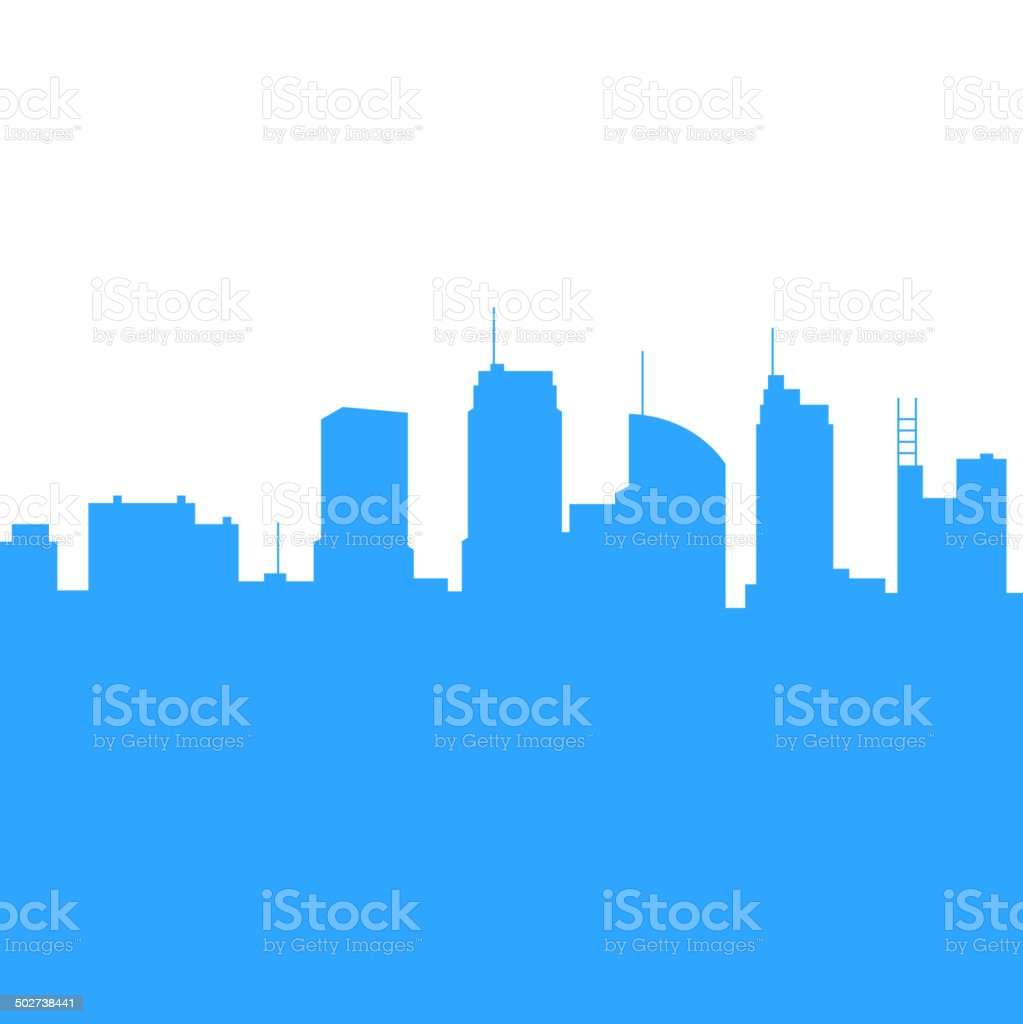 City Skylines Silhouette Background. Vector royalty-free stock vector art
